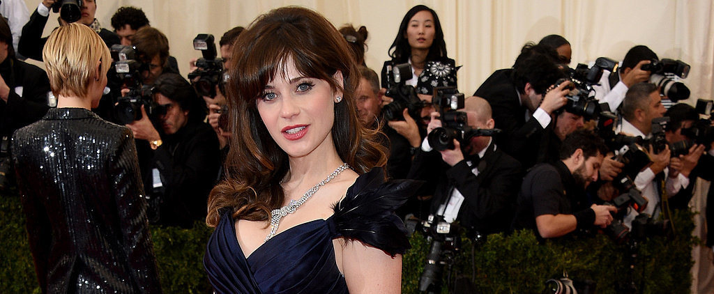 Zooey Deschanel Glides Her Way Through the Met Gala