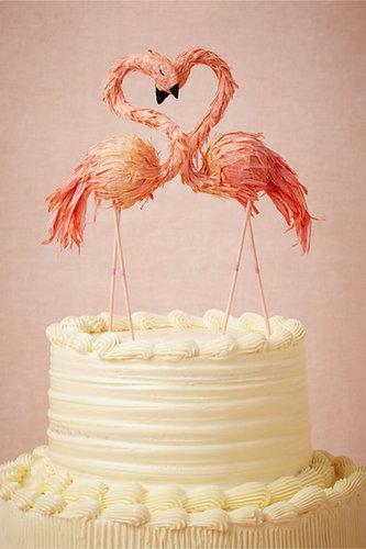 Flaming Flamingo Cake Topper