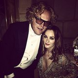 Leighton Meester and Peter Dundas looked supercool. Source: Instagram user itsmeleighton