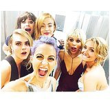 Nicole Richie, Cara Delevingne, Zooey Deschanel, Zoe Kravitz, Hayden Panettiere, and Riley Keough took an epic photo. Source: Instagram user nicolerichie