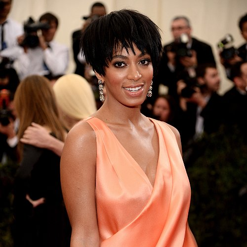 Solange Knowles Makeup, Hair, Nails Details at 2014 Met Gala