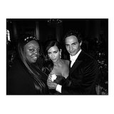 "She caught up with makeup artist Pat McGrath and designer Zac Posen, saying, ""Zac Posen took me to my 1st fashion event!"" Source: Instagram user kimkardashian"