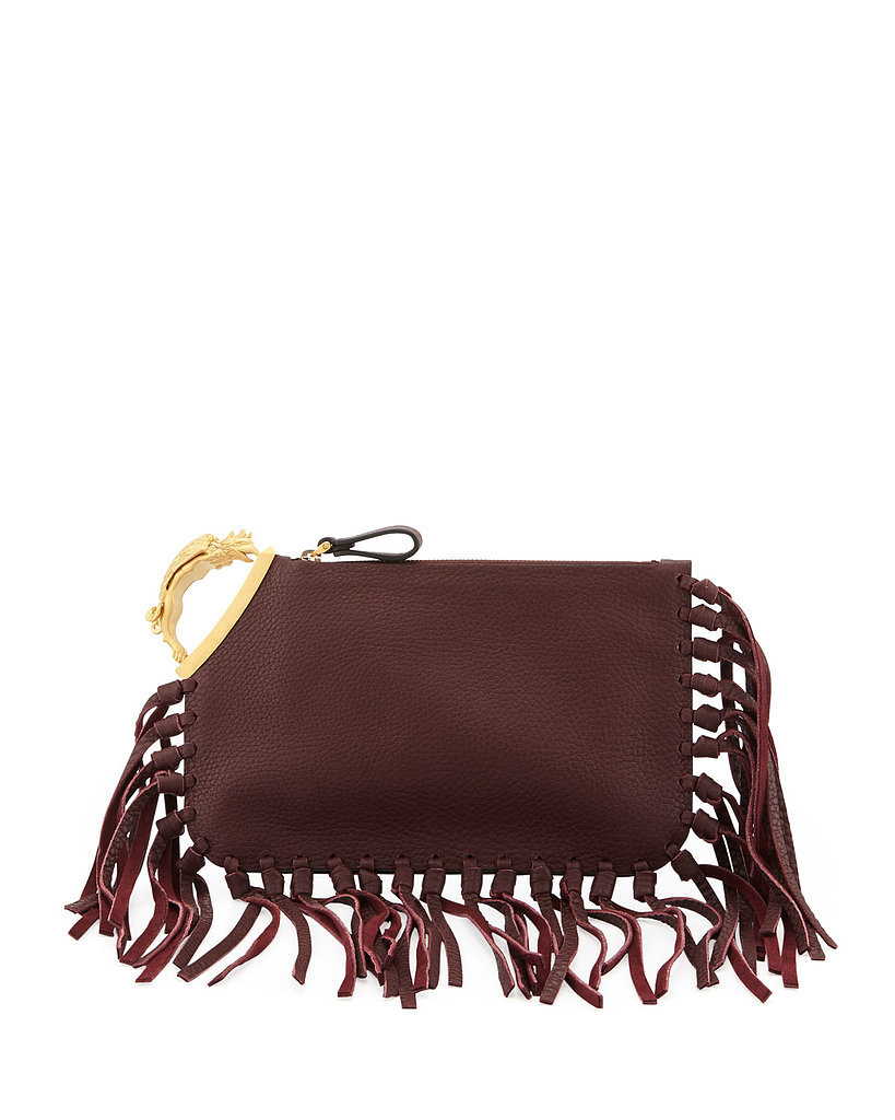 Valentino Fringed Clutch