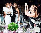 Stella McCartney grabbed a photo of Rihanna and Cara Delevingne.