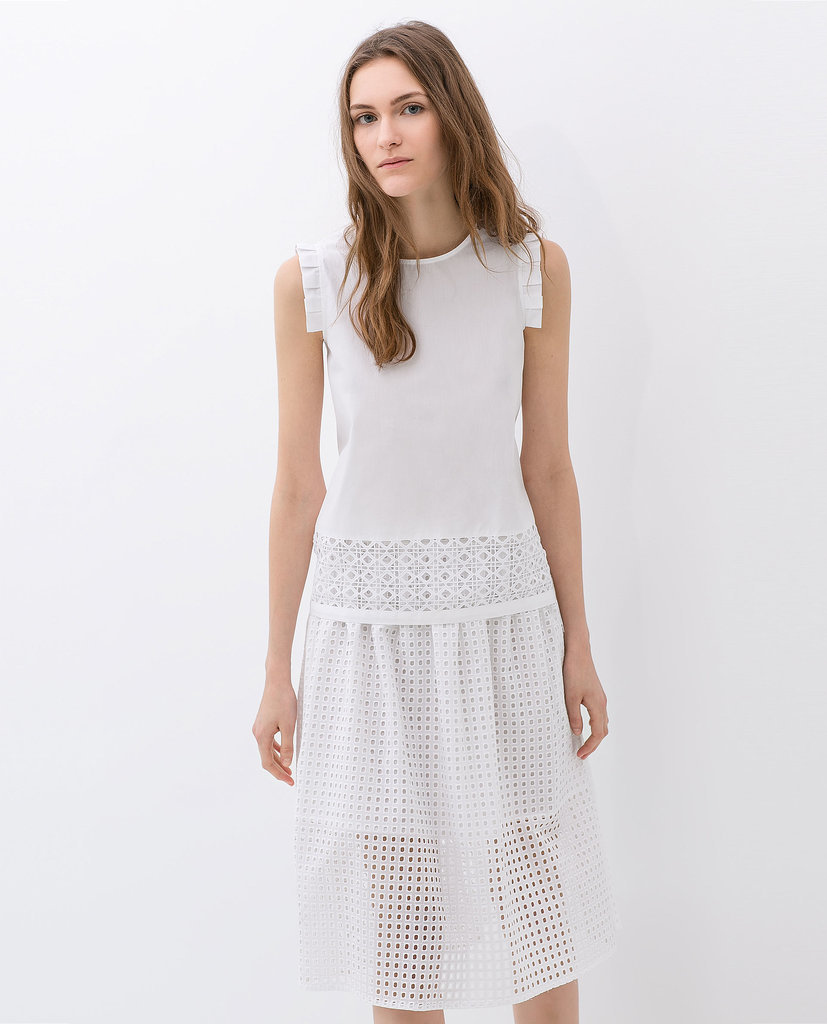 Zara Cut Work Skirt ($80)