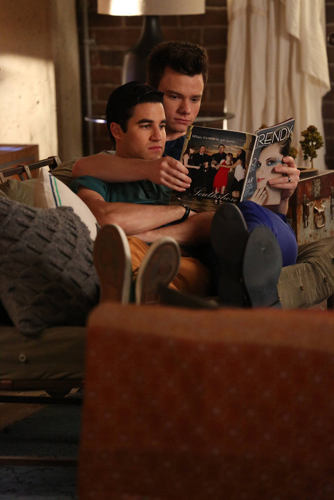 Aww, Klaine take a break.