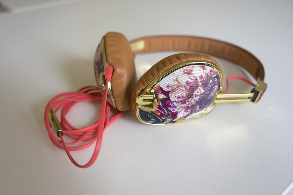 Knockout in Floral — Ear Cup Detail