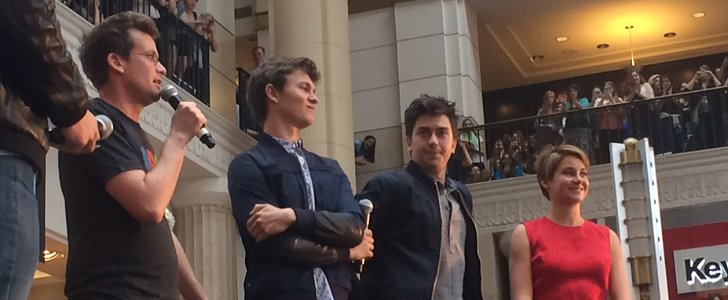 Shailene and Ansel Hug It Out For Fans in Cleveland