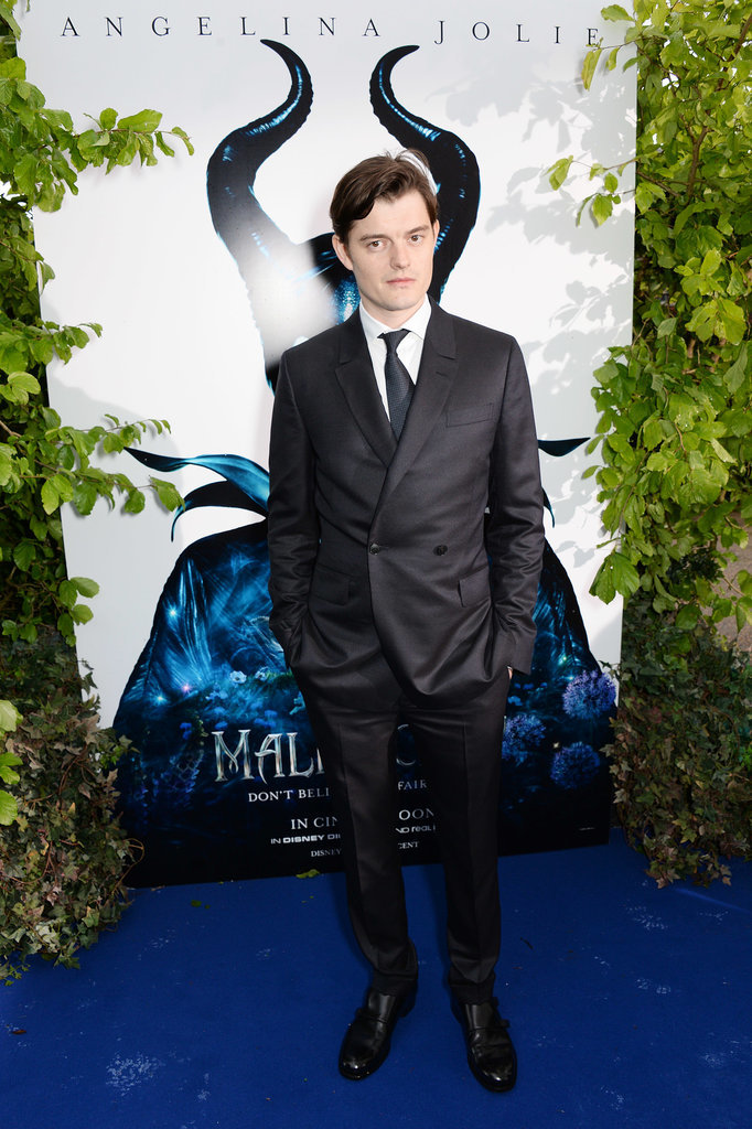 Star Sam Riley posed.