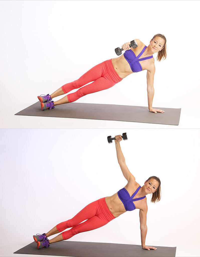 Side Plank With Reverse Fly