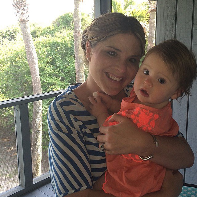 "Jenna Bush Hager celebrated her first Mother's Day with her ""Duck"": Mila. Source: Instagram user jennabhager"