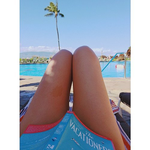 I shared this pic of Emma Straub's The Vacationers (while on vacation) on POPSUGARLove's Instagram.