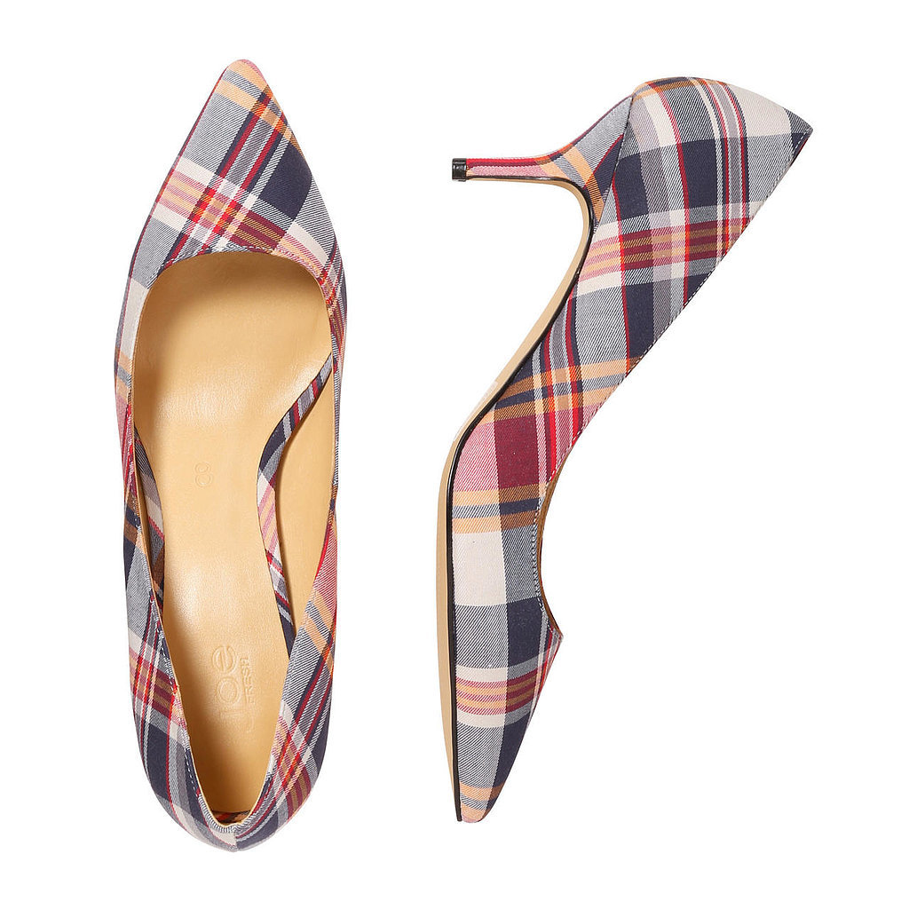 Joe Fresh Plaid-Print Pumps