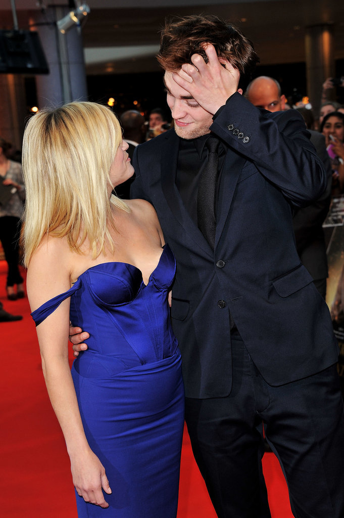 Reese Witherspoon got an up close and personal view of Rob and his hair at their UK premiere for Water For Elephants in May 2011.
