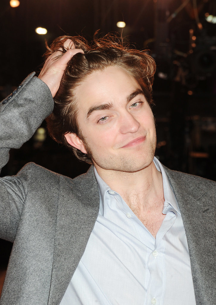 He pushed back his bangs to show off his face at the March 2010 London premiere of Remember Me.