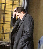Robert got emotional as he ran his hand through his hair while filming scenes for Life in Toronto in March 2014.