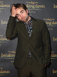 Robert struck a pensive pose while attending a fan event in Sydney back in October 2012.