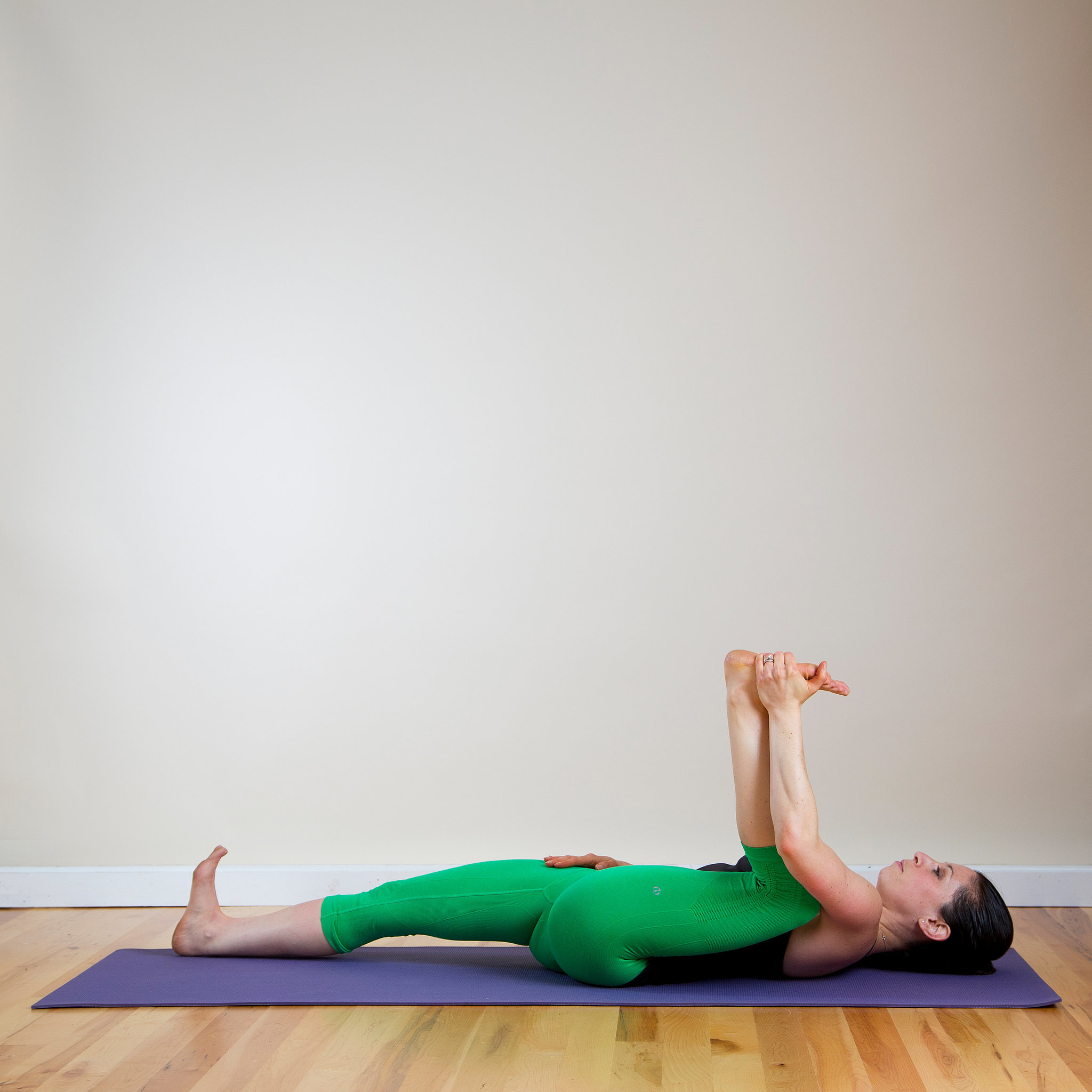 Yoga poses to help with lower back pain popsugar fitness for Floor yoga stretches