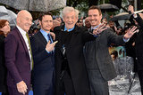 Patrick Stewart, James McAvoy, Ian McKellen, and Michael Fassbender goofed around at Monday's X-Men: Days of Future Past premiere in London.