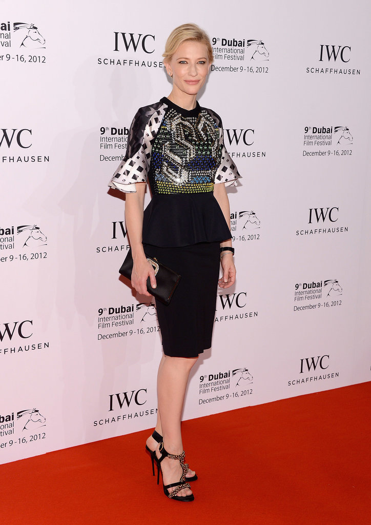 Cate Blanchett in a Printed Peter Pilotto Top at the 2012 Dubai International Film Festival