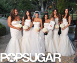 Kim posed with her bridesmaids: sisters Khloé and Kourtney Kardashian and Kylie and Kendall Jenner, plus Kris Humphries's sister Kaela.
