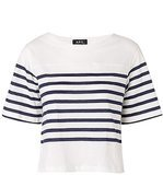 A.P.C. Striped Crop Top