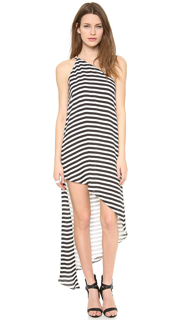 Mason by Michelle Mason Asymmetrical Striped Dress