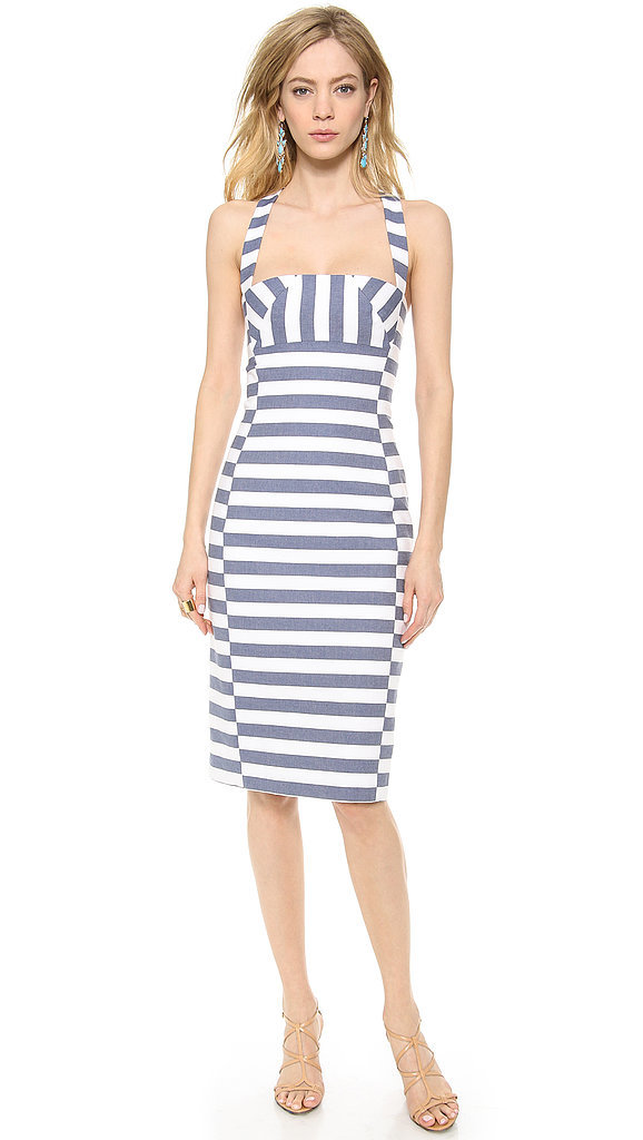 Black Halo Striped Sheath Dress