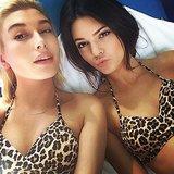 Kendall Jenner rocked a leopard-print bikini. Source: Instagram user kendalljenner