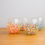 Colorful Hand-Dotted Tumblers