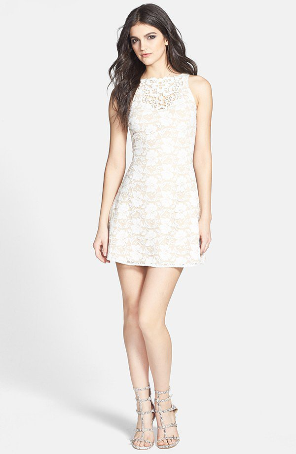 One Rad Girl Floral Lace Dress