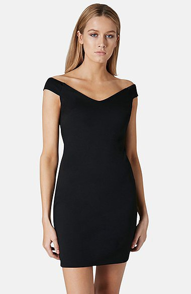 Topshop Off-the-Shoulder Dress