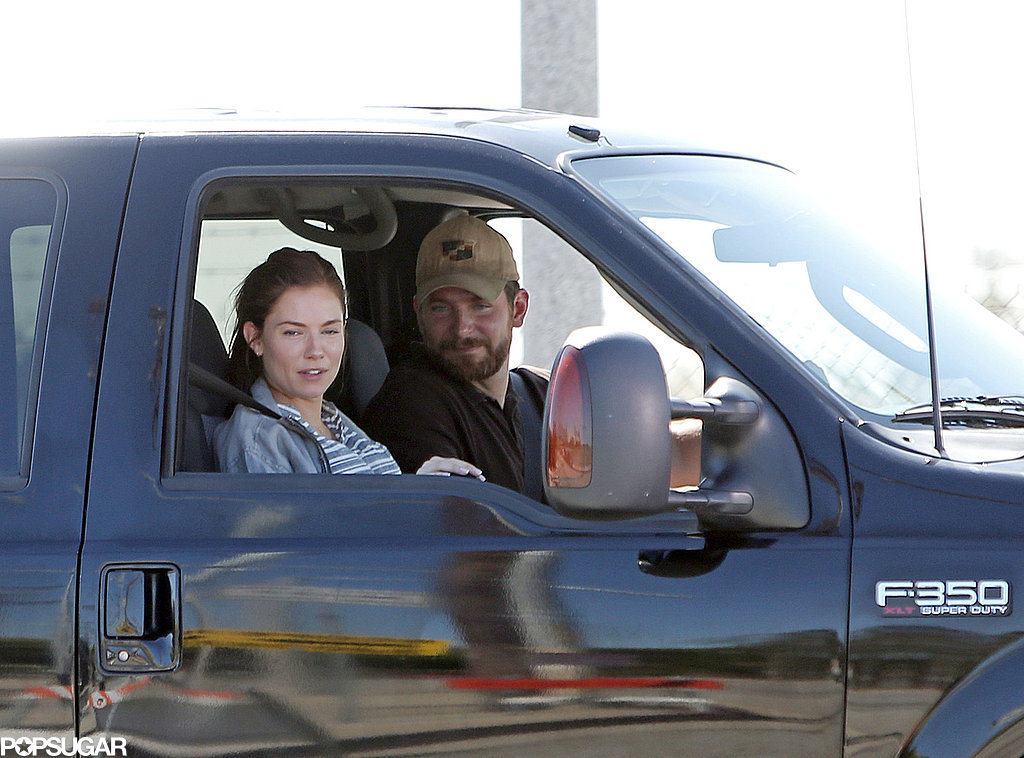 Sienna Miller and Bradley Cooper filmed American Sniper together on Wednesday in LA.