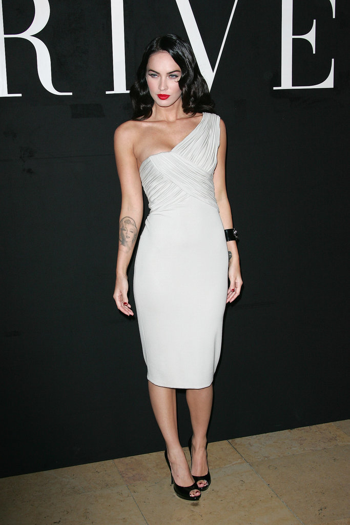 Megan Fox in Armani Privé For Paris Fashion Week Haute Couture 2011