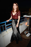Julianne Moore glowed at the L'Oréal and UniFrance Films 65th anniversary cocktail party.