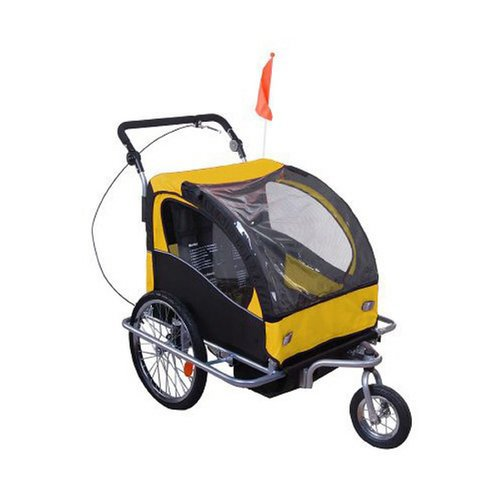 Double Child Bike Trailer, Stroller, and Jogger