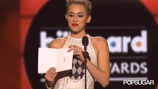 Miley Cyrus Couldn't Conceal Her Feelings When Justin Bieber Won in 2013