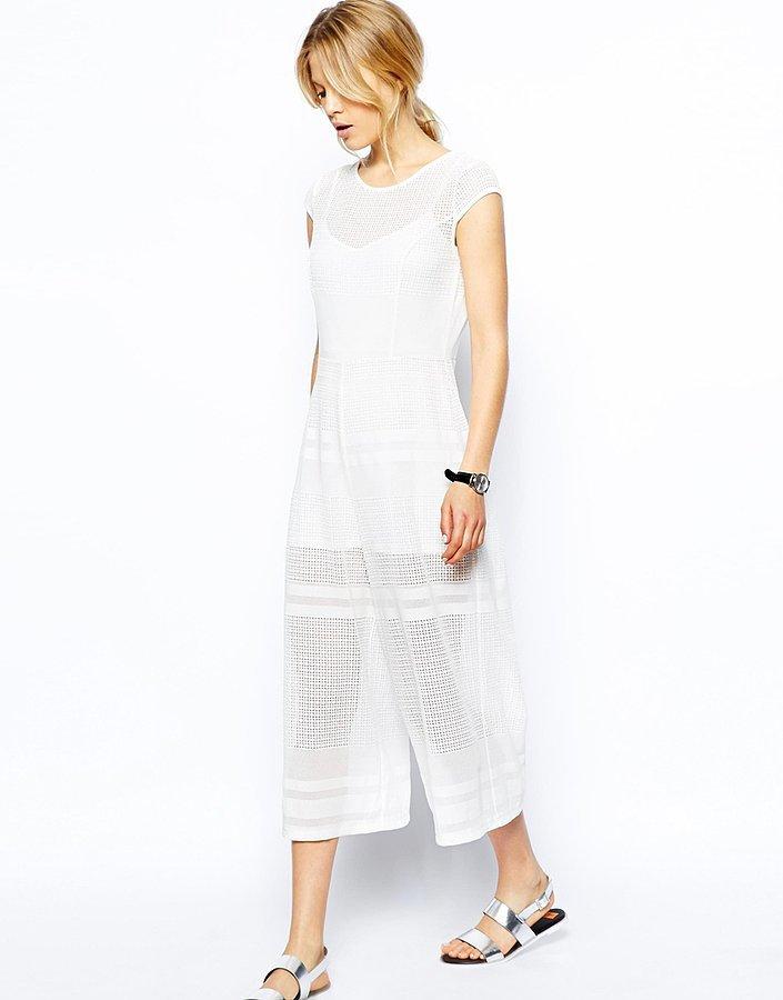 ASOS Cropped Lace Jumpsuit
