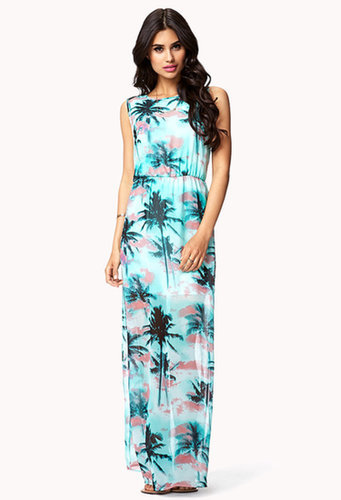 Forever 21 Tropical-Print Maxi