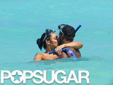 Jordin Sparks and Jason Derulo smooched while snorkeling during a trip to the Bahamas in September 2012.