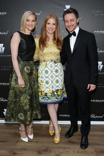 Jess Weixler, Jessica Chastain, and James McAvoy at the Disappearance of Eleanor Rigby Screening