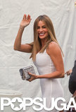 Sofia Vergara wore a white dress to Brad Pitt's Make It Right gala in New Orleans on Saturday.