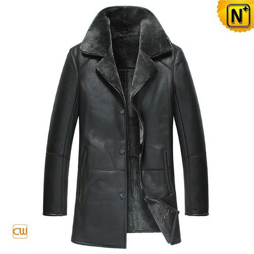 Sheepskin Leather Coat for Men CW877180