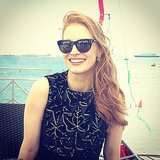 Jessica Chastain looked Cannes ready by the beach.