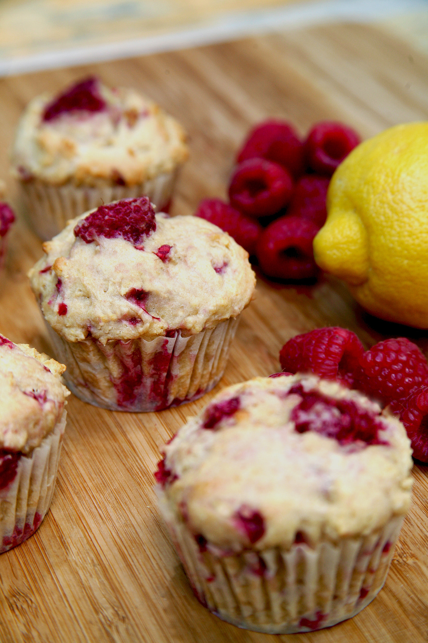 ... For Low-Sugar, High-Protein Lemon Raspberry Muffins | POPSUGAR Fitness