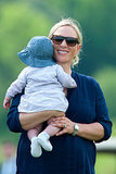 Zara Phillips held her baby, Mia Tindall — who is Prince George's baby cousin!