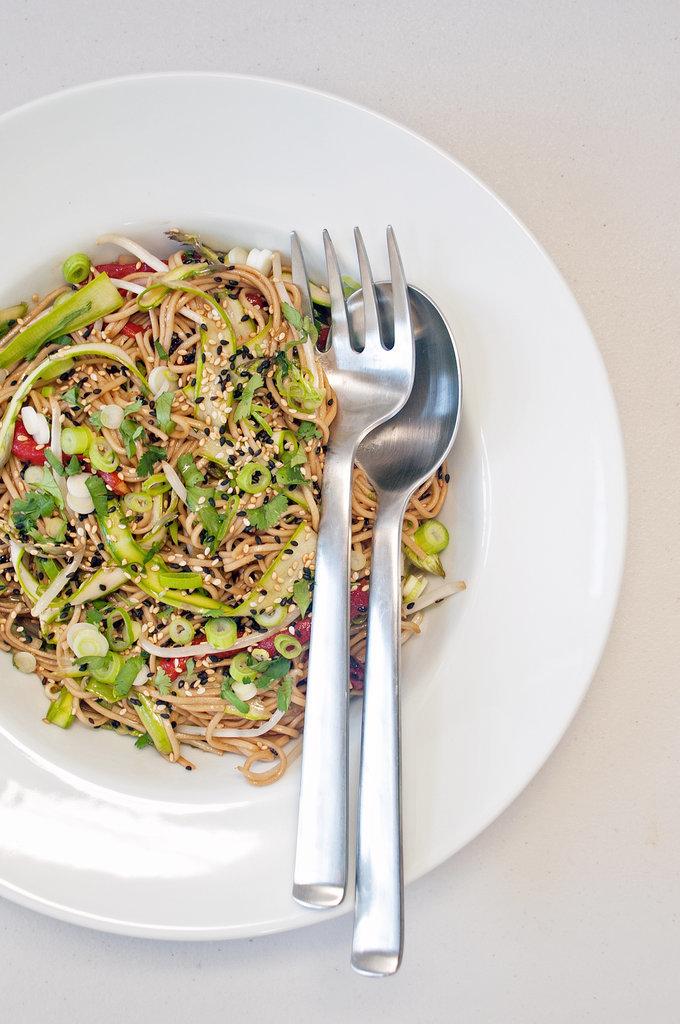 Sesame-Ginger Soba Noodle Salad