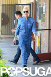 Gwen Stefani walked around LA in head-to-toe blue.