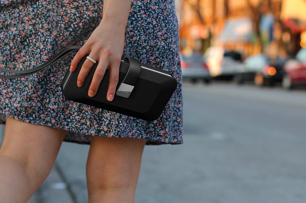 The Everpurse mini ($129, available for preorder) is a little bit boxy and all kinds of pretty. What's different about this one is that it's designed only for the iPhone 5/5S since it has an aluminum charging dock on the exterior of the wallet to fit the phone. Once charged, you can expect up to 48 hours of battery life.