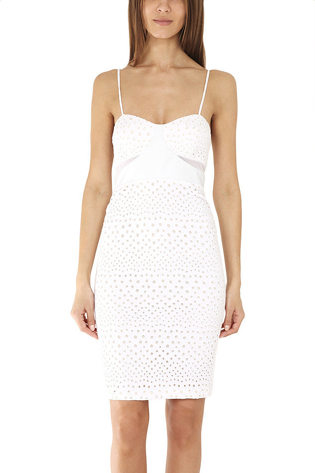 Charlotte Ronson White Eyelet Dress